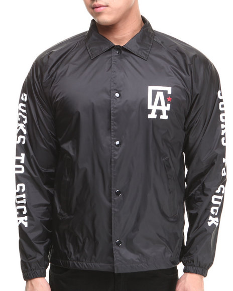 CLSC Black C L A Coaches Jacket