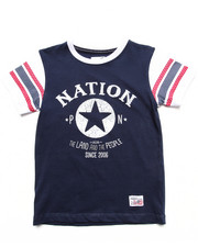 Boys - PARISH NATION RAGLAN TEE (4-7)