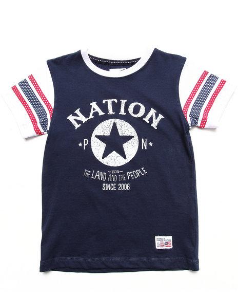 Parish Boys Navy Parish Nation Raglan Tee (4-7)