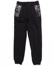 Akademiks - KNIT PANTS W/ FAUX LEATHER DETAIL (8-20)