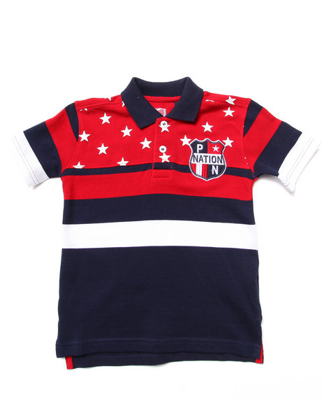Parish Boys Navy Americana Polo (4-7)