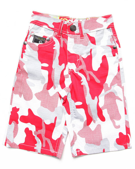 Akademiks - Boys Camo,Red Camo Shorts (4-7)