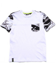 Boys - CAMO POCKET TEE (8-20)