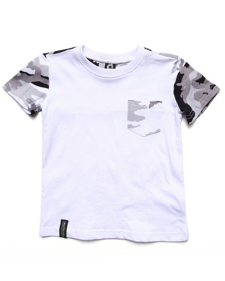 Akademiks - Boys Black,Camo Camo Pocket Tee (2T-4T) - $8.99