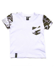 Tops - CAMO POCKET TEE (2T-4T)
