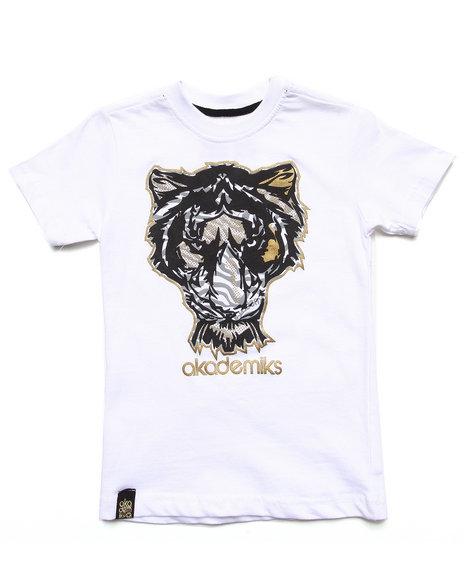 Akademiks Boys White Tiger Tee (4-7)