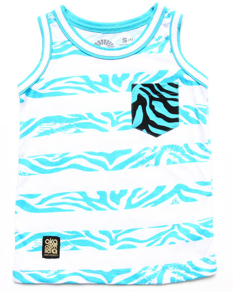 Akademiks Blue Tanks