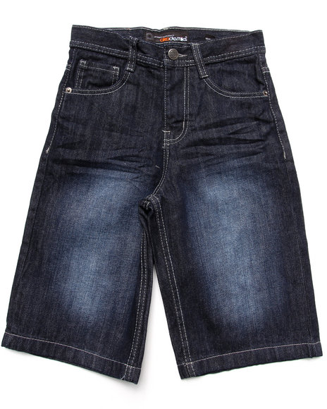 Akademiks Boys Dark Wash Fanbak Denim Shorts (8-20)