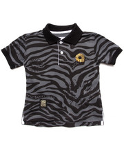 Tops - ANIMAL PRINT POLO (2T-4T)