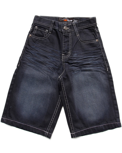 Akademiks - Boys Black,Blue Fanbak Denim Shorts (8-20)