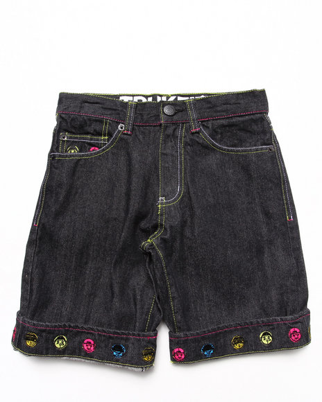 TRUKFIT Boys Black Lil' Tommy Denim Shorts (8-20)