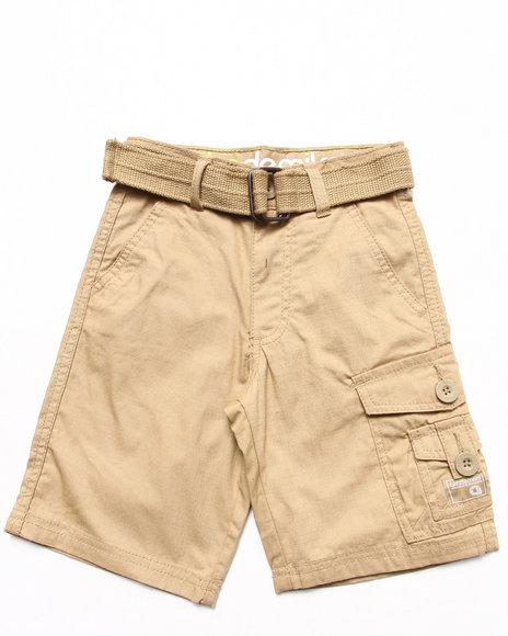 Akademiks - Boys Khaki Belted Cargo Shorts (4-7)