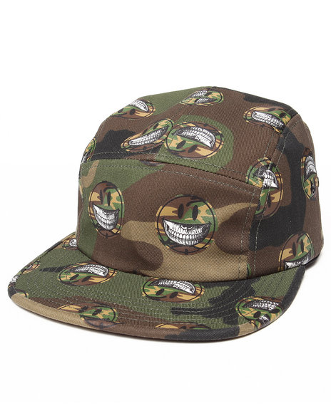 Popaganda Men Grin Camo 5 Panel Hat Camo