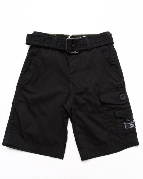 Akademiks Boys Black Belted Cargo Shorts (4-7)