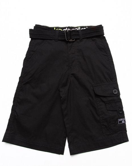 Akademiks - Boys Black Belted Cargo Shorts (8-20)