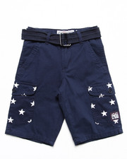 Bottoms - BELTED AMERICANA CARGO SHORTS (4-7)