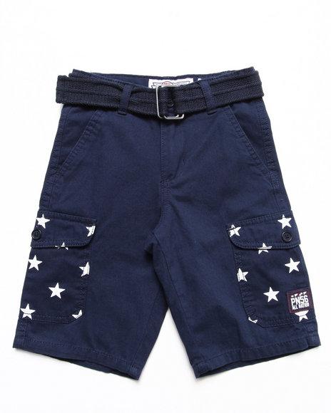 Parish Boys Navy Belted Americana Cargo Shorts (4-7)