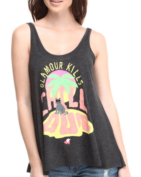 Glamour Kills Black Chill Out Drape Tank