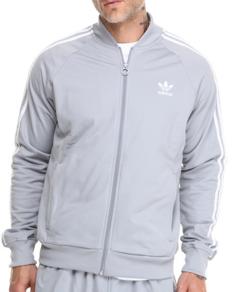 Adidas - Men Grey Superstar Track Jacket