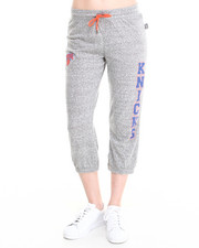 NBA MLB NFL Gear - New York Knicks Cropped Warm Up Sweatpant