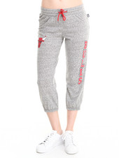 NBA MLB NFL Gear - Chicago Bulls Cropped Warm Up Sweatpant