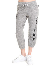 NBA MLB NFL Gear - Brooklyn Nets Cropped Warm Up Sweatpant
