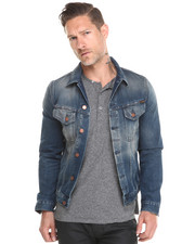 Jackets & Coats - Perry Organic Flat Crinkles Denim Jacket
