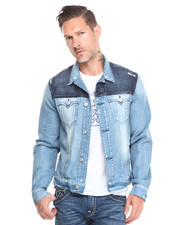 Jackets & Coats - TWO TONE DENIM JACKET