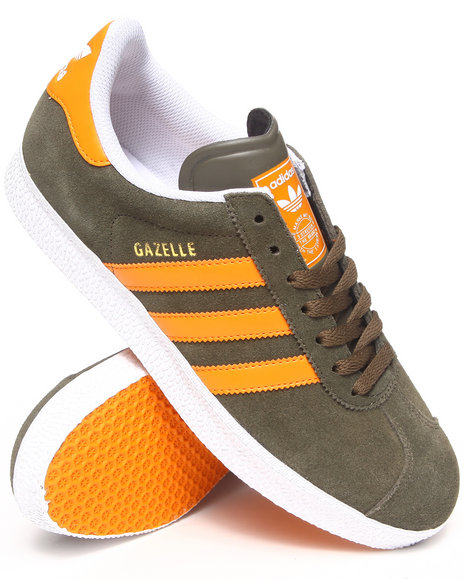 Adidas - Men Olive Gazelle Sneakers