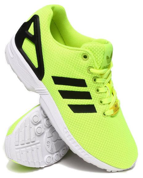 Adidas - Men Neon Green Zx Flux Sneakers
