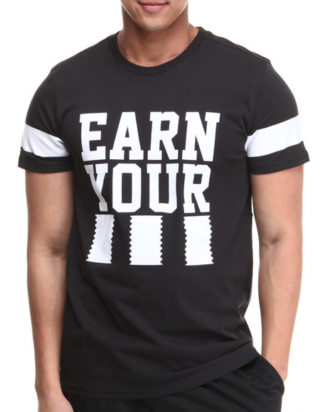 Adidas Black Earn Your Stripes Street Tee