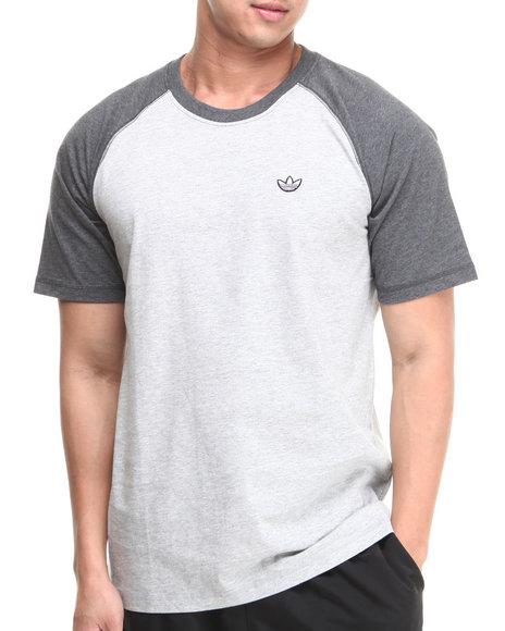 Adidas - Men Grey Premium Basics Raglan Tee