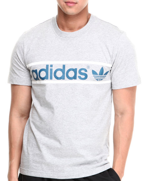 Adidas - Men Grey Heritage Logo Tee