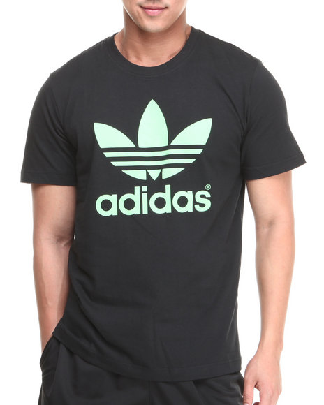 Adidas - Men Black Mirror Trefoil Logo Tee