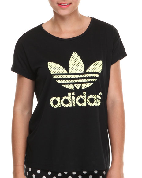Adidas - Women Black Premium Basics Logo Tee