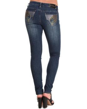 Baby Phat - Studded Rhinestone Back Pocket Skinny Jean
