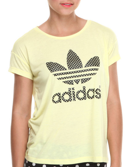 Adidas - Women Neon Green,Lime Green,Yellow Logo Tee
