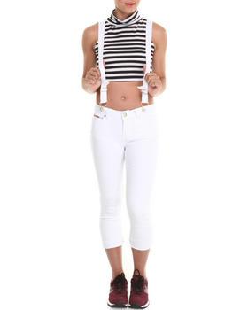 Baby Phat - Cuffed Capri Suspender Overall
