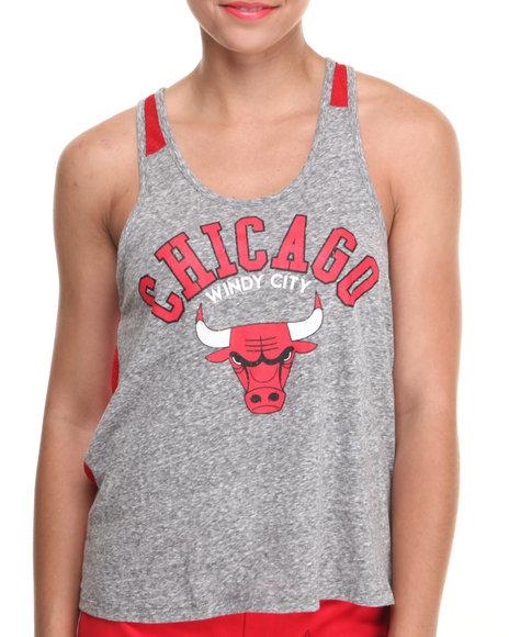 NBA MLB NFL Gear Grey,Red Chicago Bulls All Star Mesh Back Tank