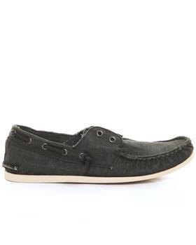 John Varvatos U.S.A. - Schooner Coated Linen Laceless Boat Shoe