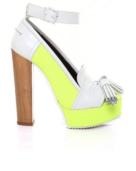 John Galliano - Women White Ubi Loafer Platform W/ Tassel