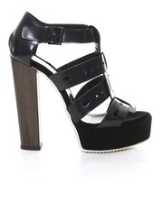 Shoes - Ubi Cage Platform w/ Wood Heel