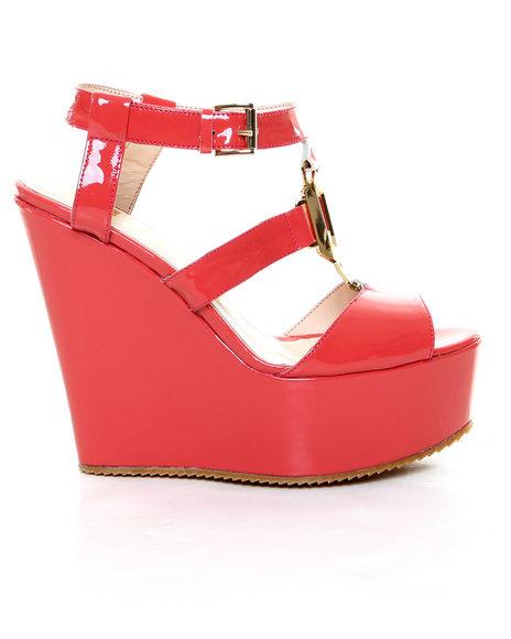 John Galliano - Women Pink Seymore G -Patent Wedge Sandal