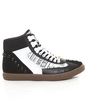 John Galliano - Martina Newsprint Hightop