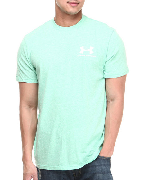 Under Armour Green Legacy Logo Tee (Moisture Transport & Anti-Odor Technology)