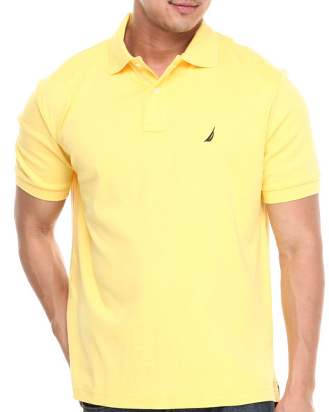 Nautica - Men Yellow Interlock Polo