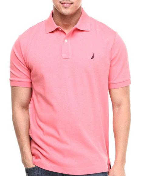 Nautica Pink Interlock Polo