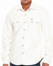 Winchester - All Faux Leather L/S Button-Down W/Pearl Buttons