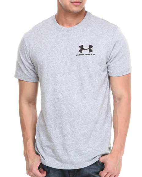 Under Armour Grey Legacy Logo Tee (Moisture Transport & Anti-Odor Technology)
