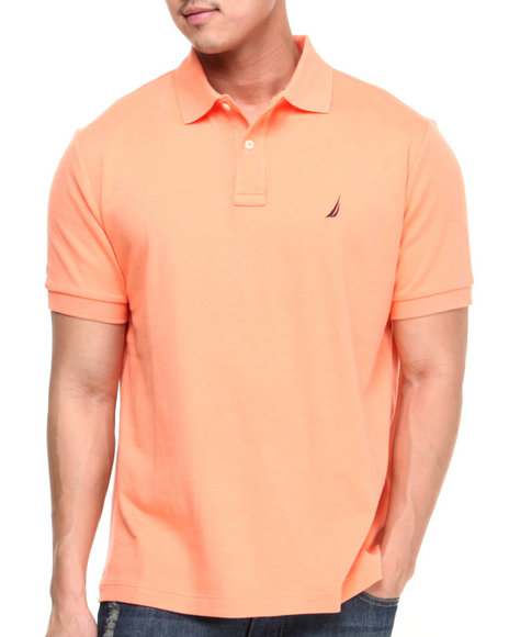 Nautica Orange Interlock Polo
